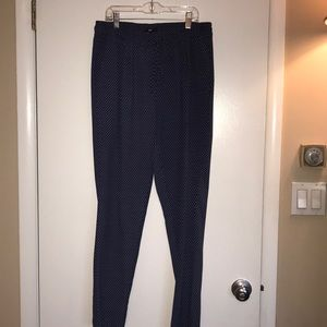 H&M Blue Patterned PJ Pant/Jogger Small